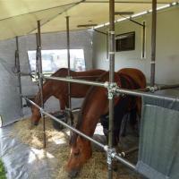 Zastosowanie sprężyn gazowych pchających w przyczepie dla koni